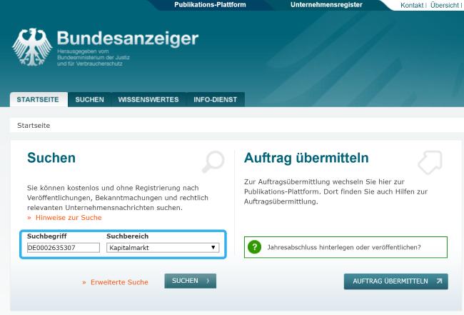 Bundesanzeiger ETF Steuerleicht